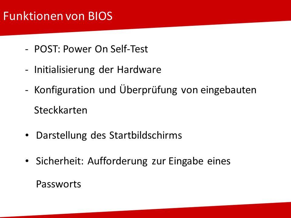Funktionen von BIOS POST: Power On Self-Test