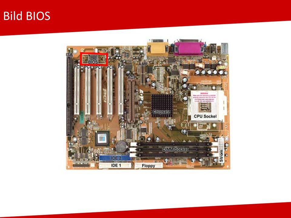 Bild BIOS Grafisch dargestellt wo sich BIOS im Rechner befindet als Hardware (roter Kasten)