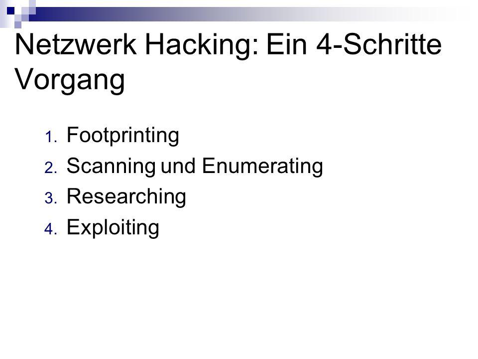 Netzwerk Hacking: Ein 4-Schritte Vorgang