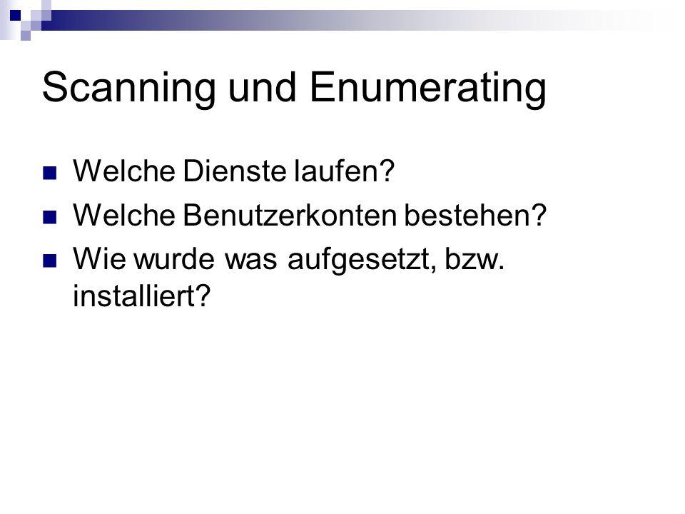 Scanning und Enumerating