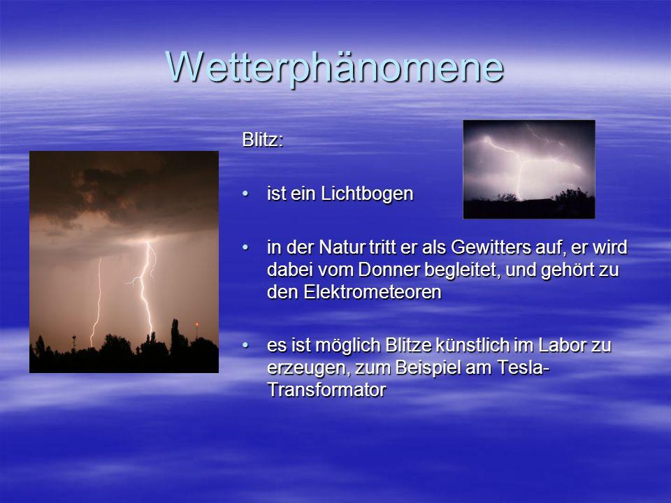 Wetterphänomene Blitz: ist ein Lichtbogen