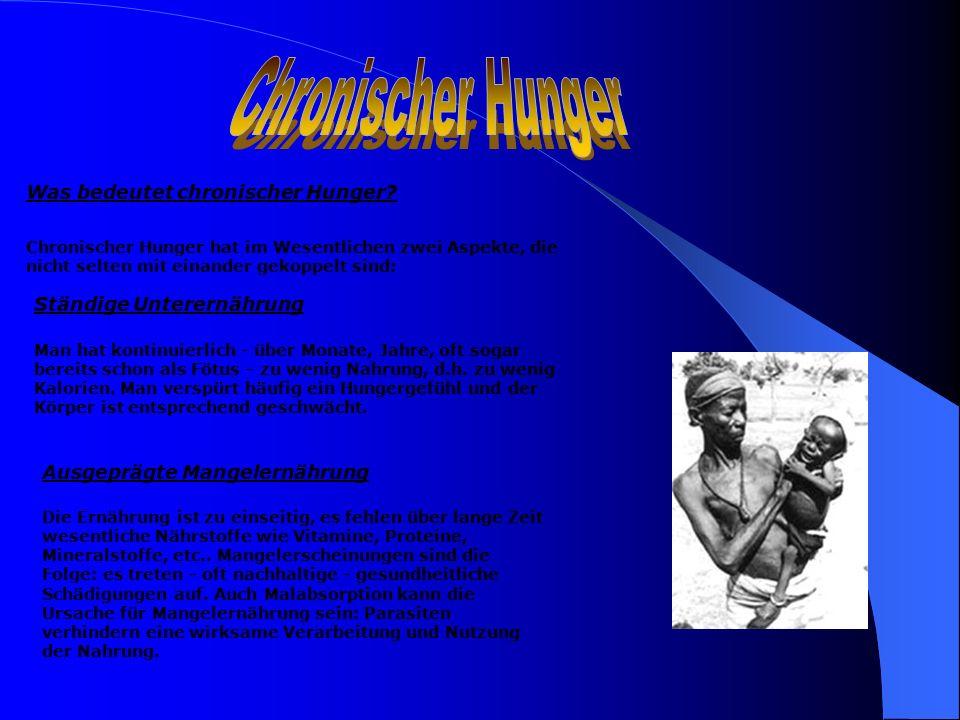 Chronischer Hunger Was bedeutet chronischer Hunger