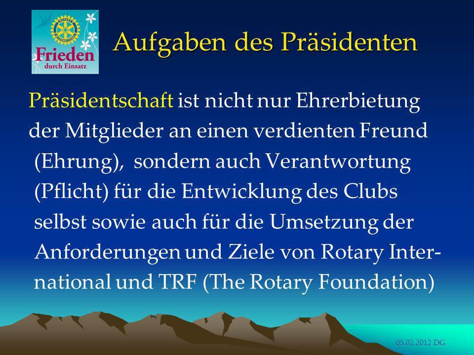 Aufgaben des Präsidenten