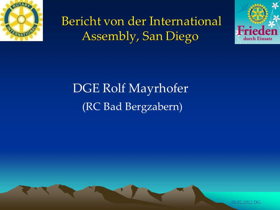 Bericht von der International Assembly, San Diego