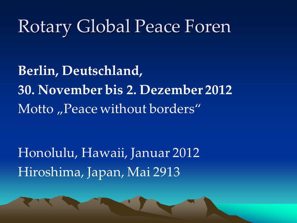 Rotary Global Peace Foren