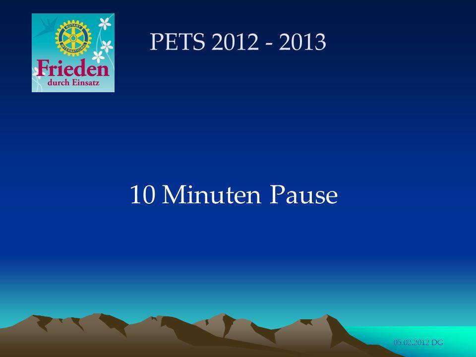 PETS 2012 - 2013 10 Minuten Pause 05.02.2012 DG