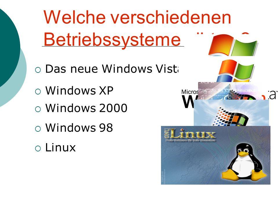 Welche verschiedenen Betriebssysteme gibt es