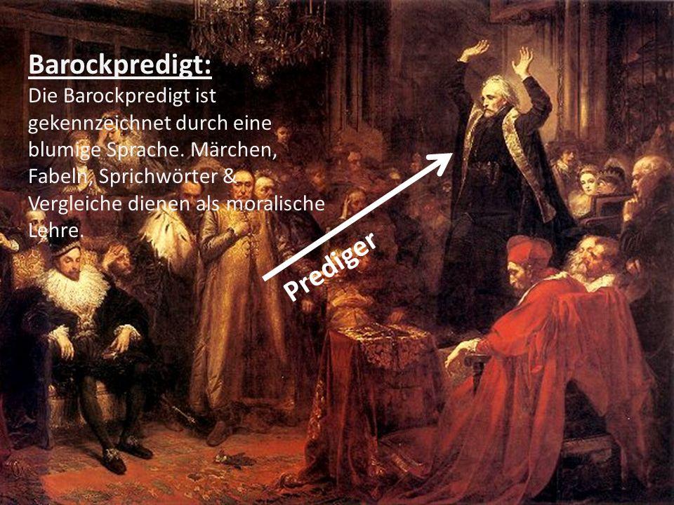 Barockpredigt: Prediger