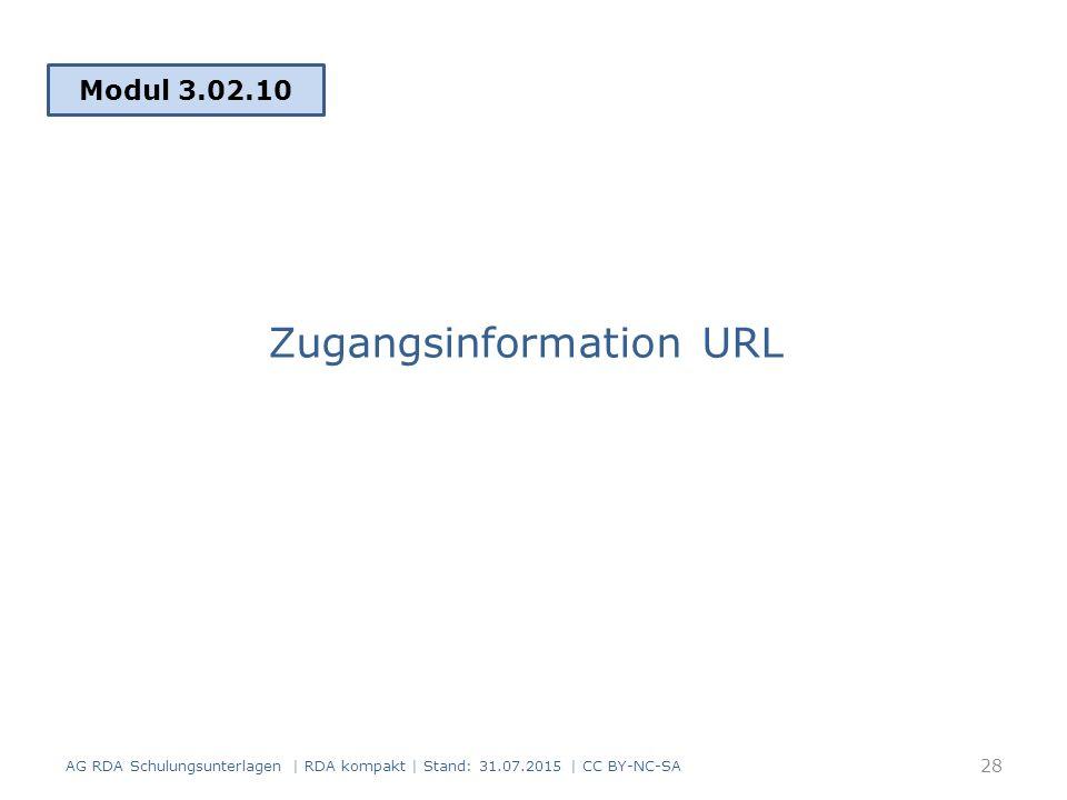 Zugangsinformation URL