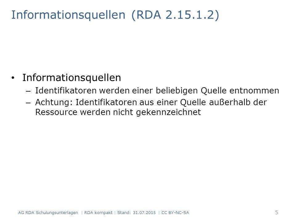 Informationsquellen (RDA 2.15.1.2)