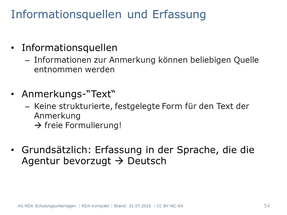 Informationsquellen und Erfassung