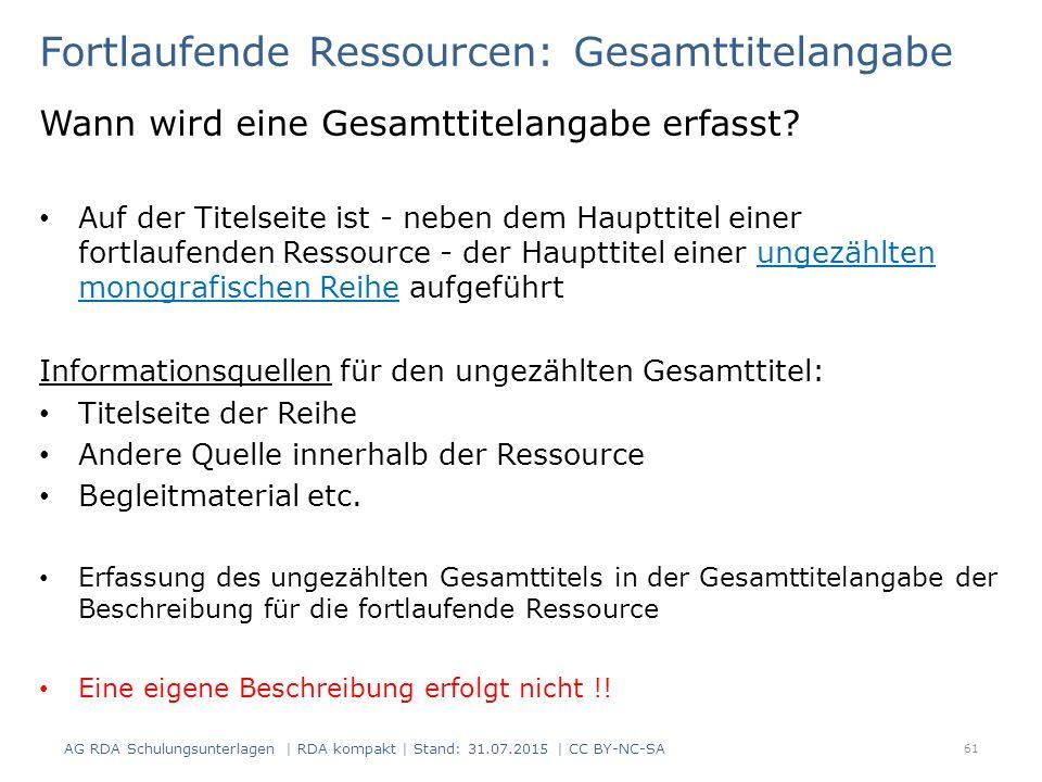 Fortlaufende Ressourcen: Gesamttitelangabe