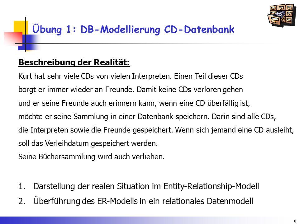 Übung 1: DB-Modellierung CD-Datenbank