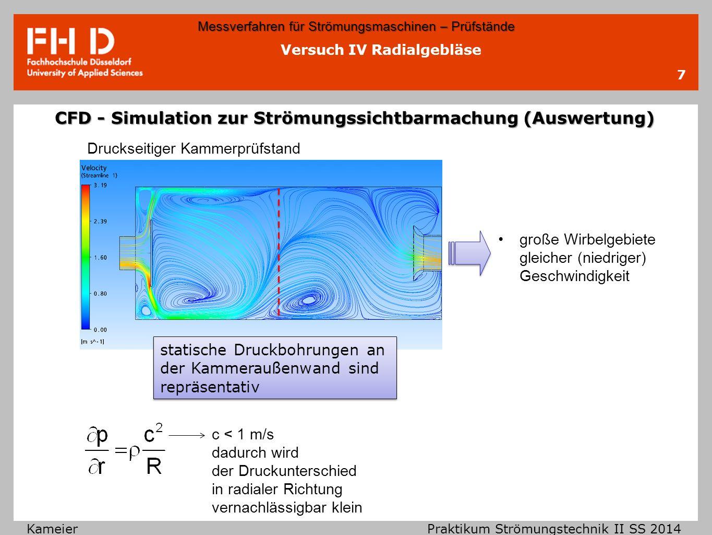 CFD - Simulation zur Strömungssichtbarmachung (Auswertung)