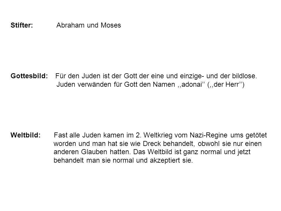 Juden verwänden für Gott den Namen ,,adonai'' (,,der Herr'')