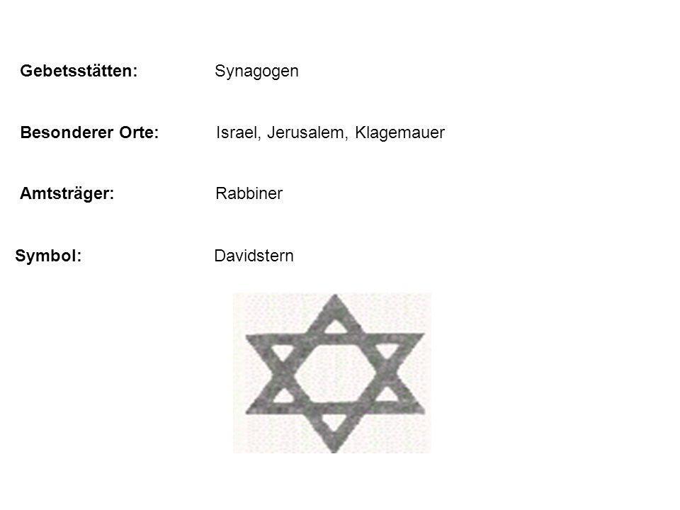 Gebetsstätten: Synagogen