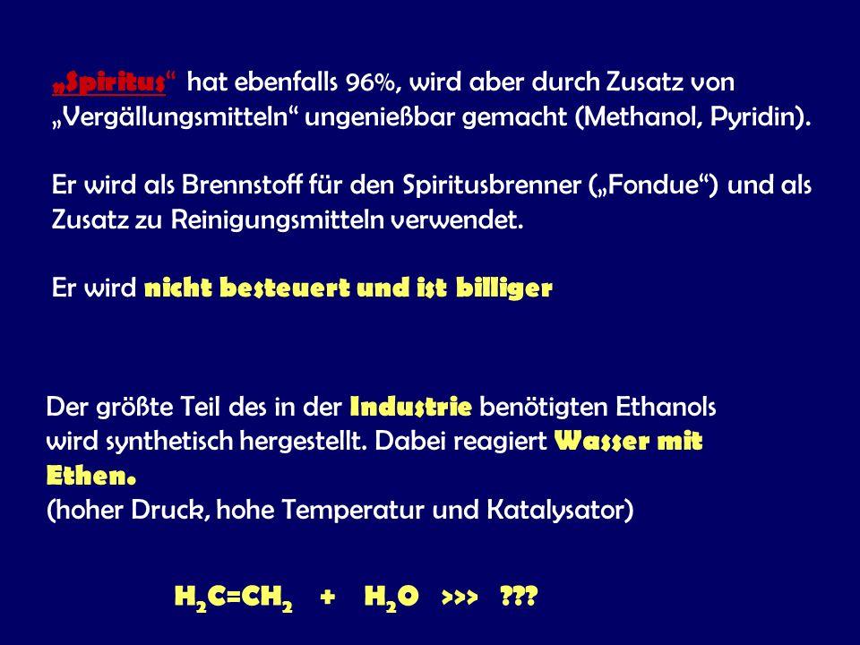 H2C=CH2 + H2O >>>