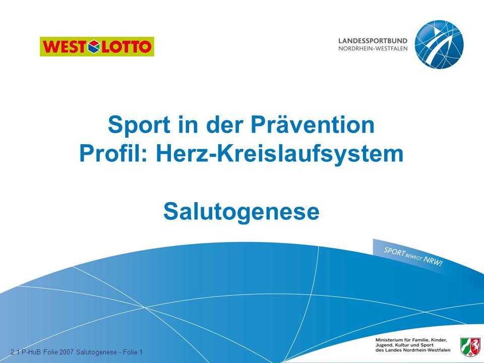 Sport in der Prävention Profil: Herz-Kreislaufsystem