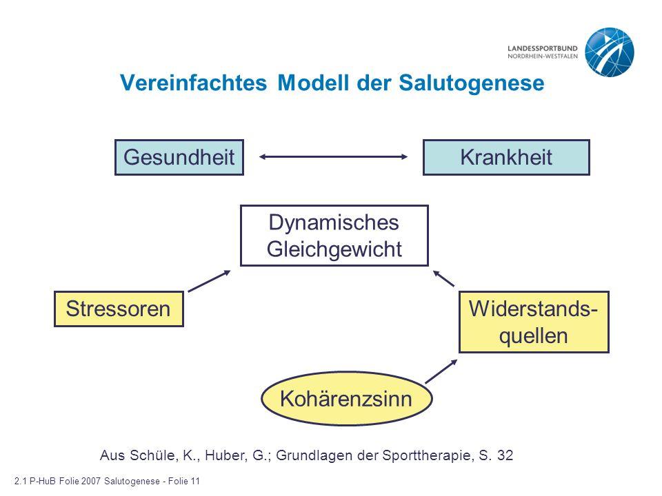 Vereinfachtes Modell der Salutogenese
