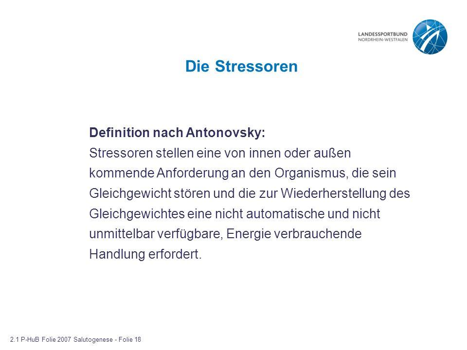 Die Stressoren Definition nach Antonovsky: