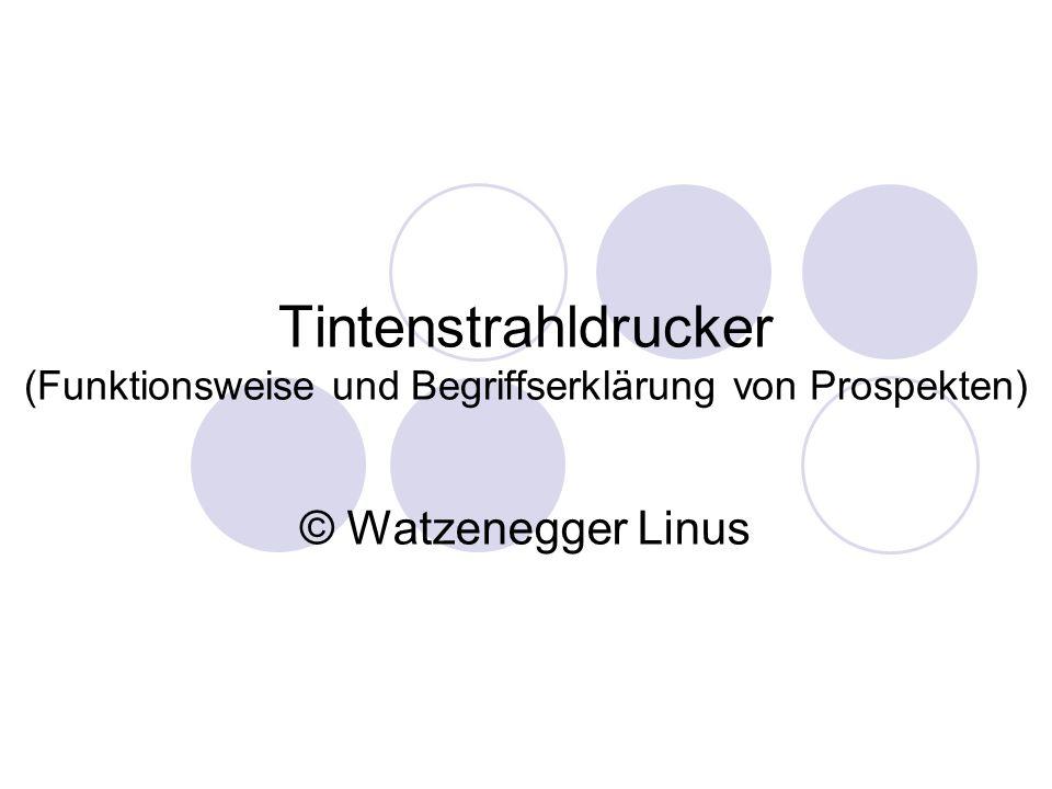Tintenstrahldrucker © Watzenegger Linus