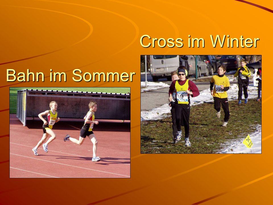 Cross im Winter Bahn im Sommer