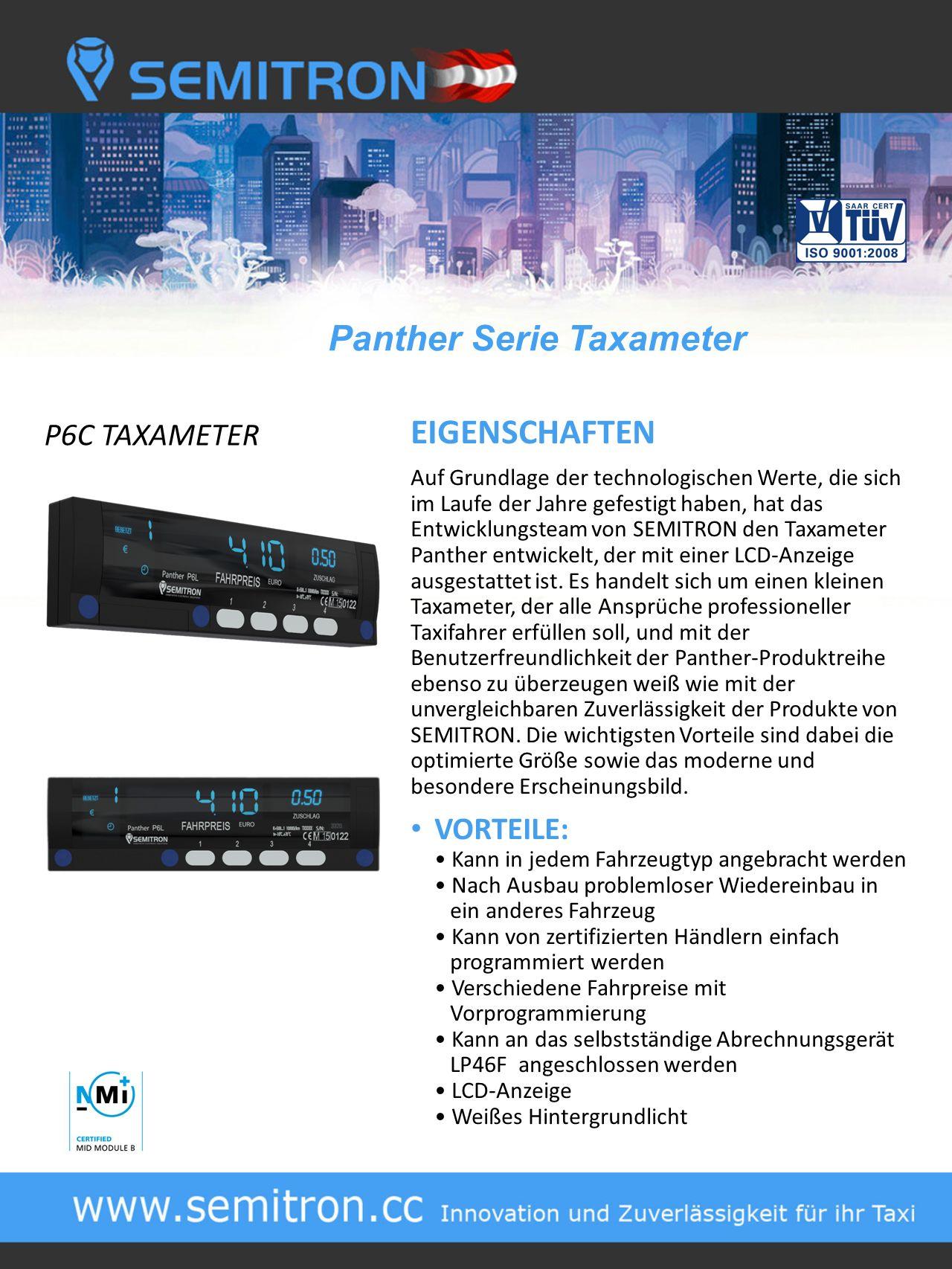 Panther Serie Taxameter