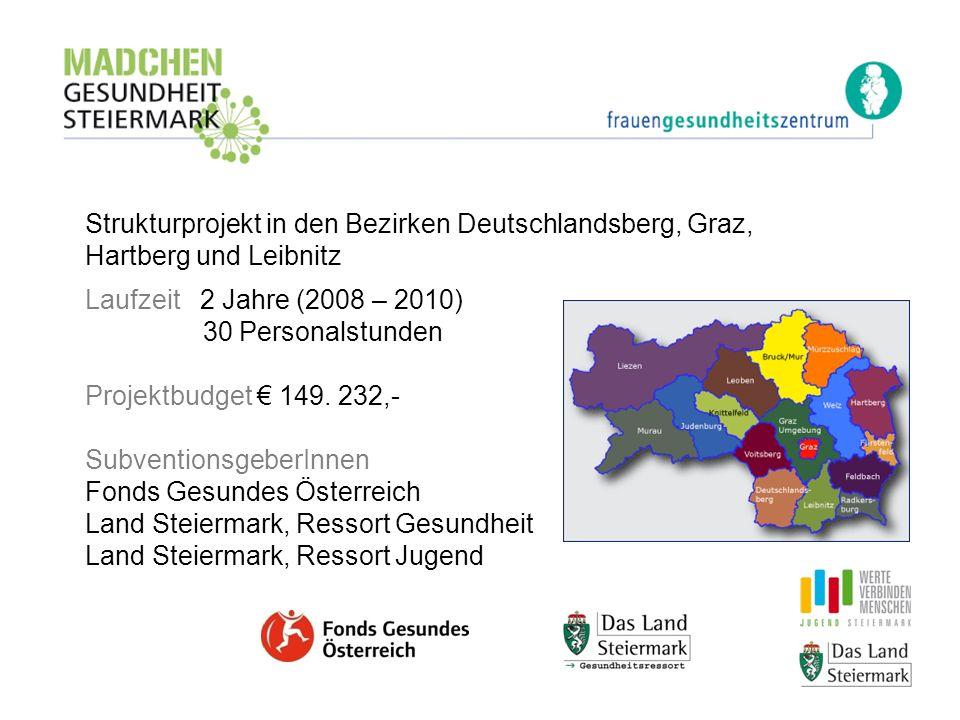 Strukturprojekt in den Bezirken Deutschlandsberg, Graz, Hartberg und Leibnitz