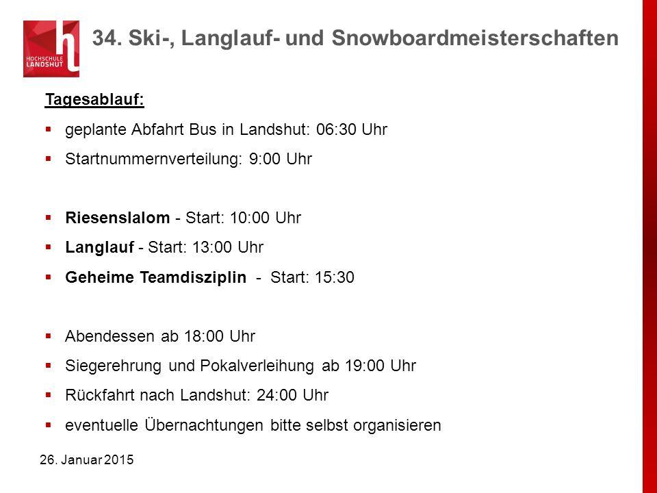 34. Ski-, Langlauf- und Snowboardmeisterschaften