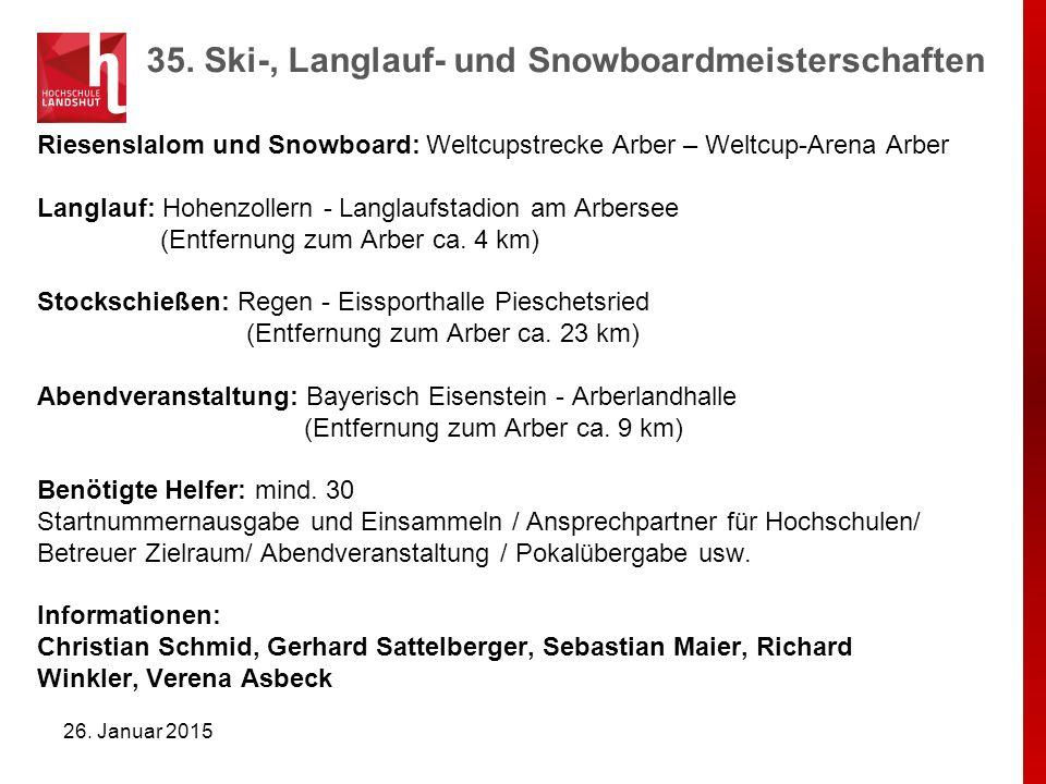 35. Ski-, Langlauf- und Snowboardmeisterschaften