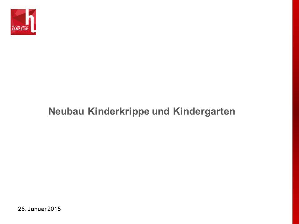 Neubau Kinderkrippe und Kindergarten