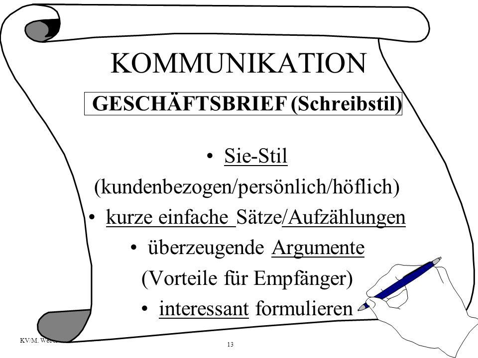 GESCHÄFTSBRIEF (Schreibstil)