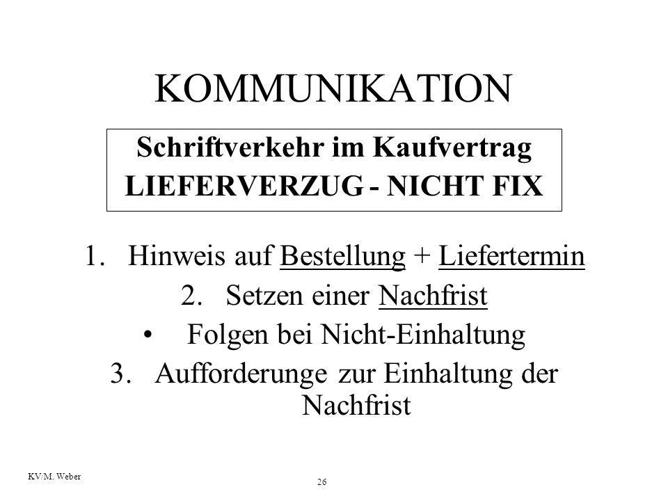 Schriftverkehr im Kaufvertrag LIEFERVERZUG - NICHT FIX