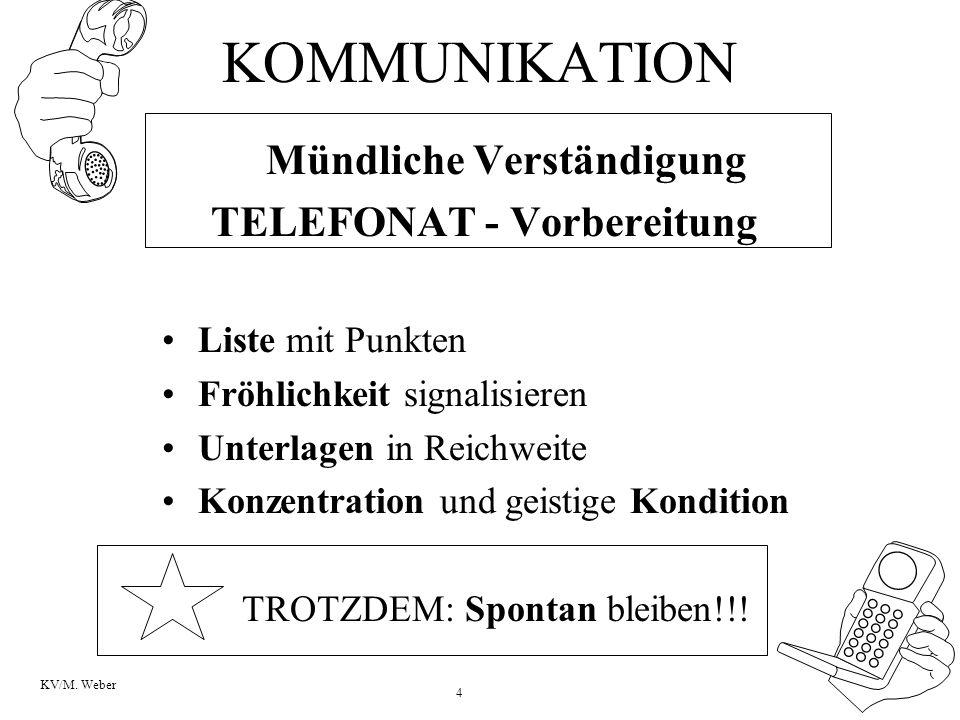 TELEFONAT - Vorbereitung
