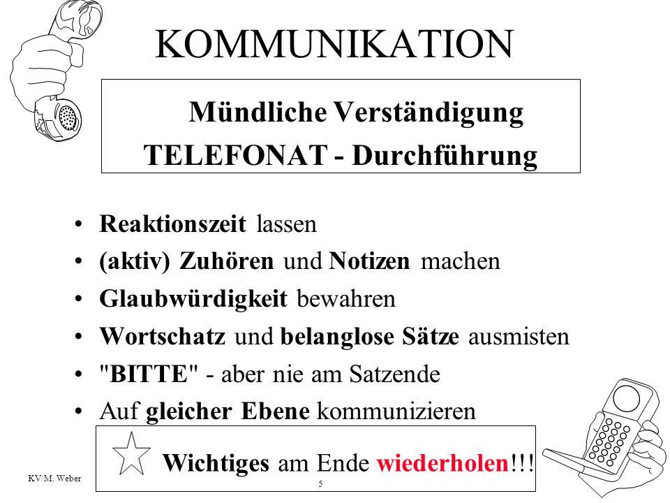 TELEFONAT - Durchführung