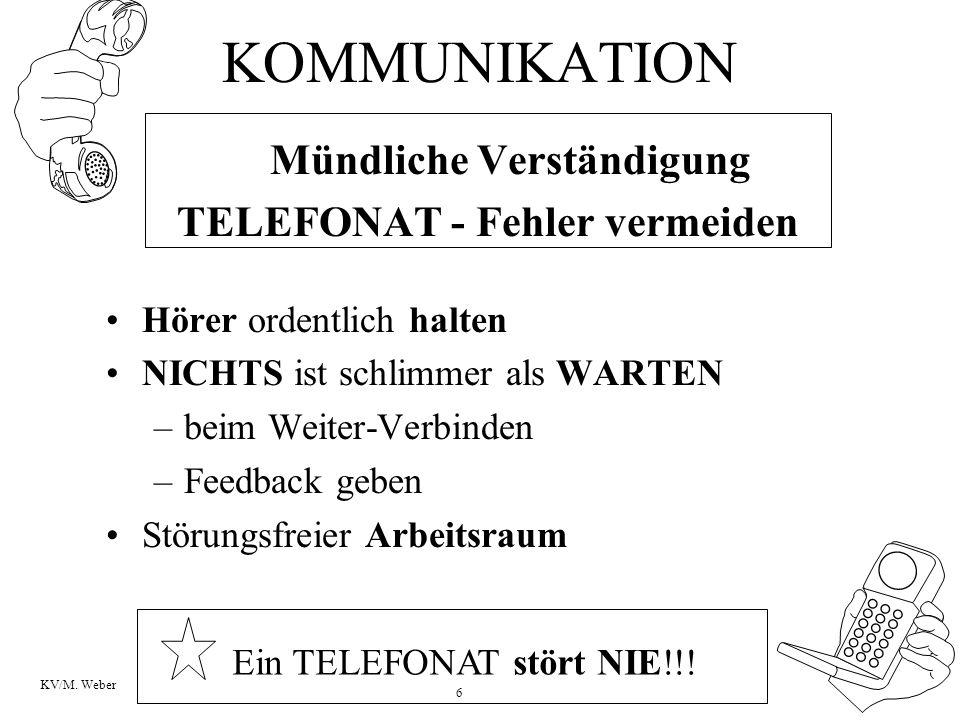 TELEFONAT - Fehler vermeiden
