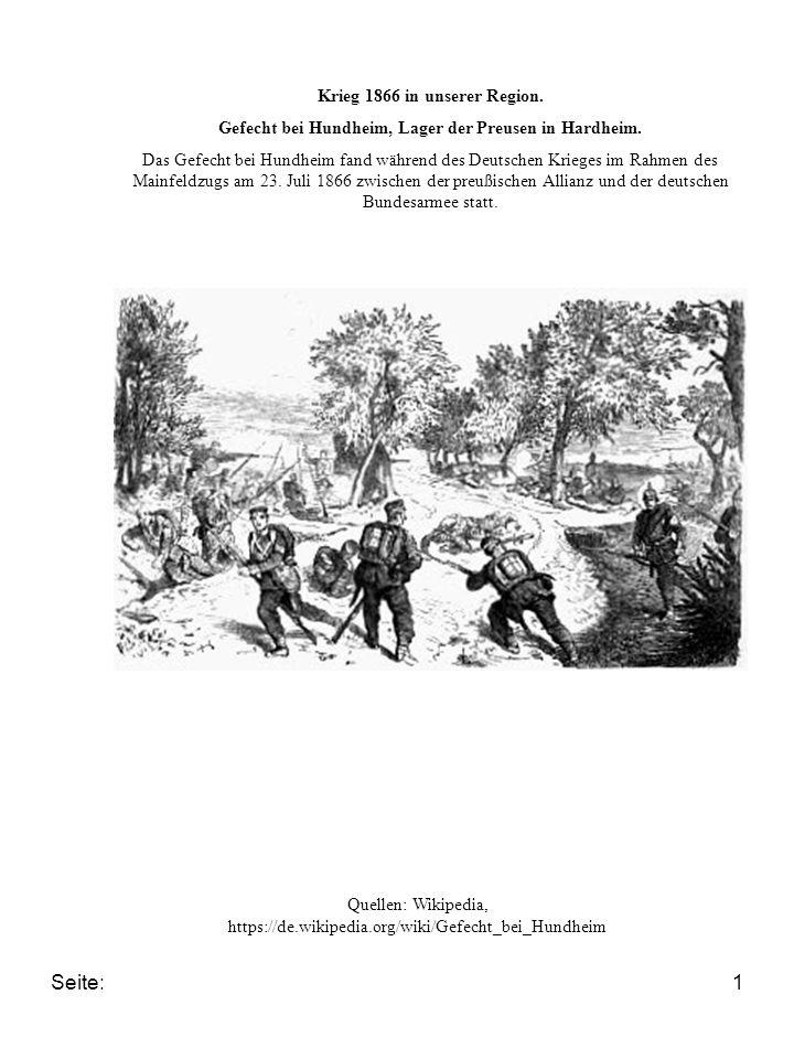 Krieg 1866 in unserer Region.