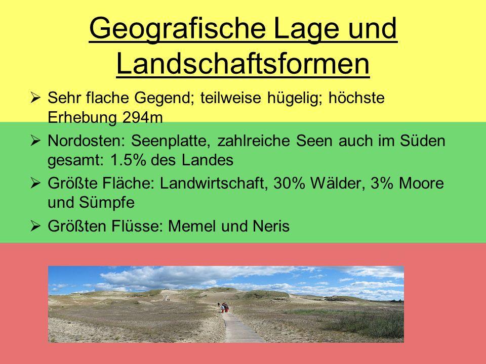 Geografische Lage und Landschaftsformen