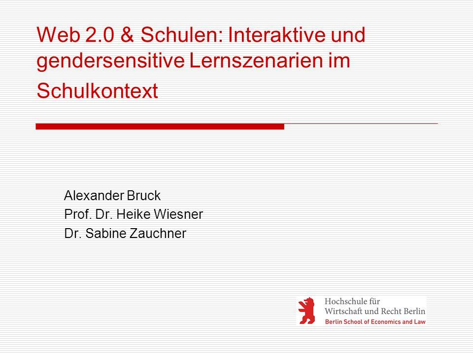 Alexander Bruck Prof. Dr. Heike Wiesner Dr. Sabine Zauchner