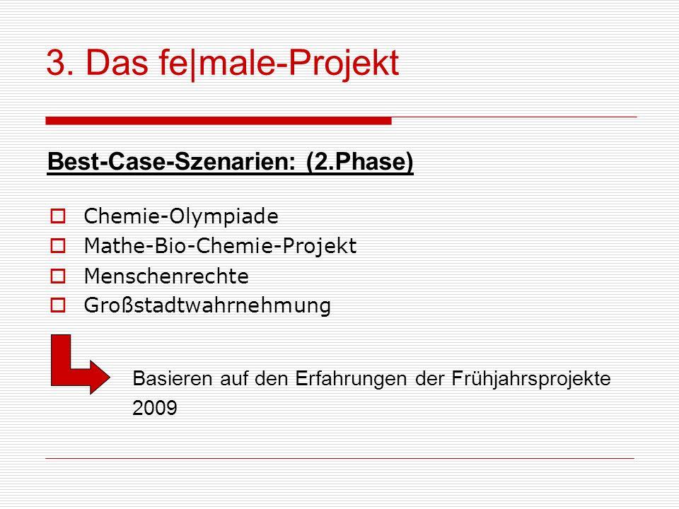 3. Das fe|male-Projekt Best-Case-Szenarien: (2.Phase) Chemie-Olympiade
