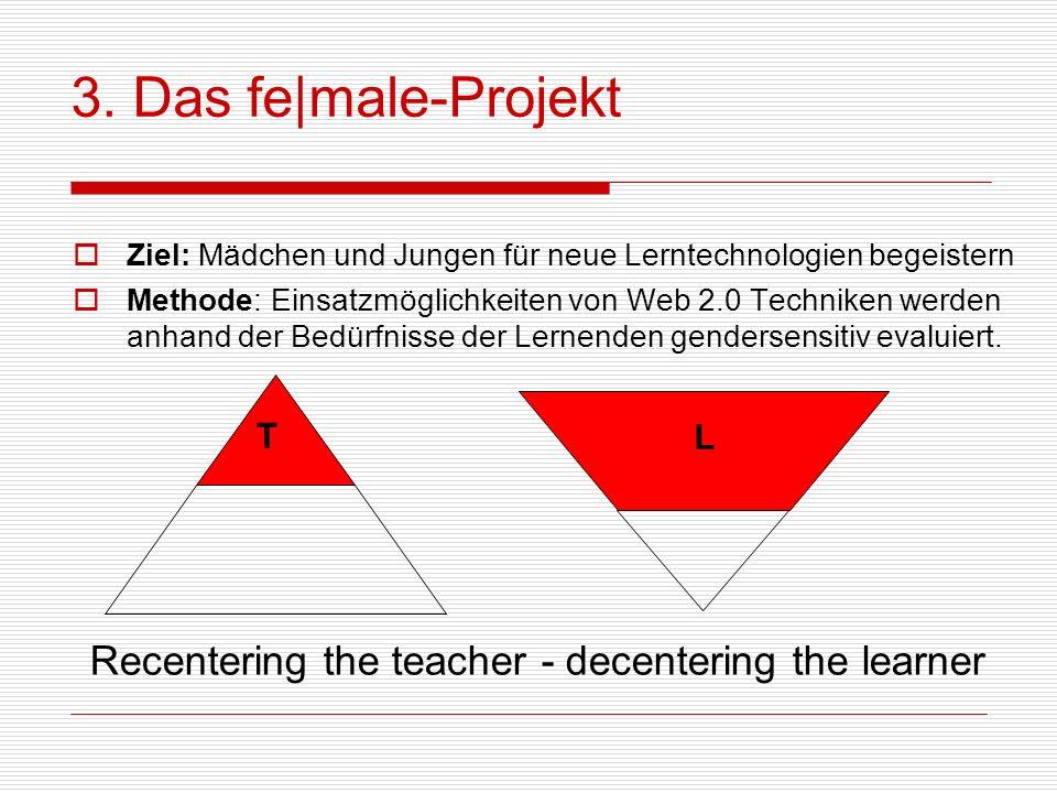 3. Das fe|male-ProjektZiel: Mädchen und Jungen für neue Lerntechnologien begeistern.
