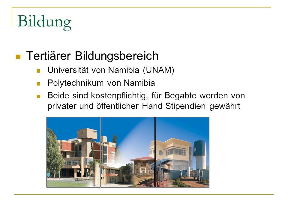 Bildung Tertiärer Bildungsbereich Universität von Namibia (UNAM)