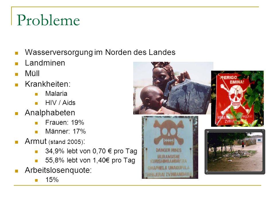 Probleme Wasserversorgung im Norden des Landes Landminen Müll