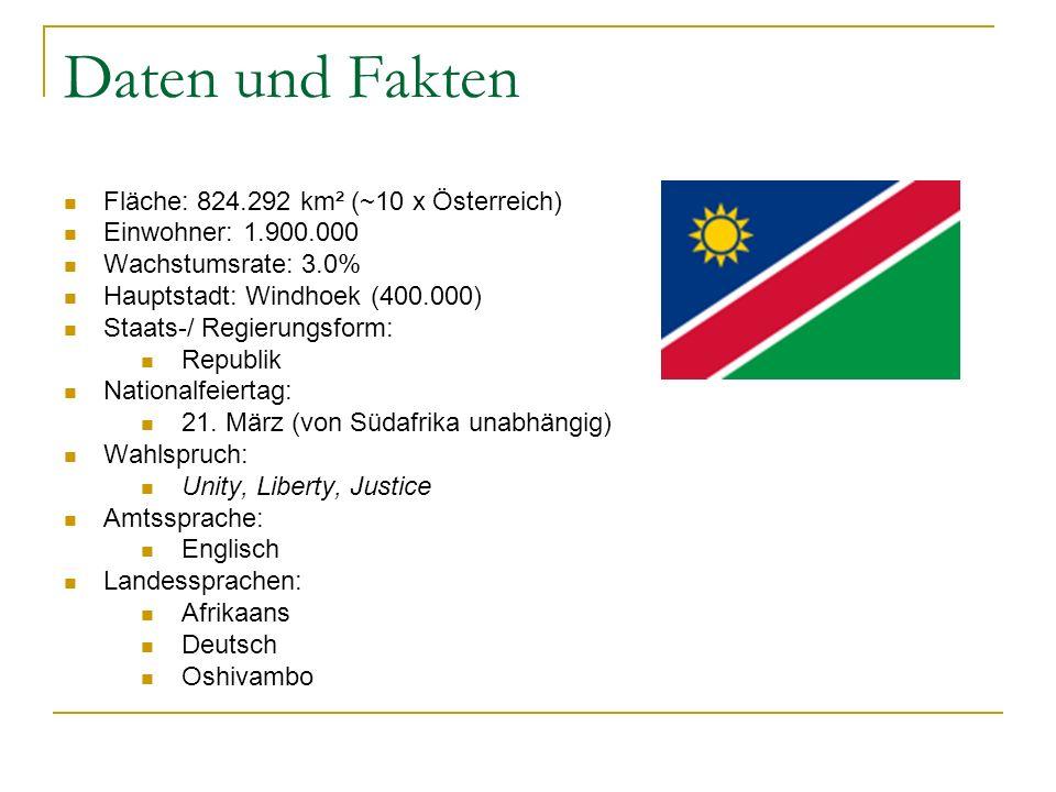 Daten und Fakten Fläche: 824.292 km² (~10 x Österreich)