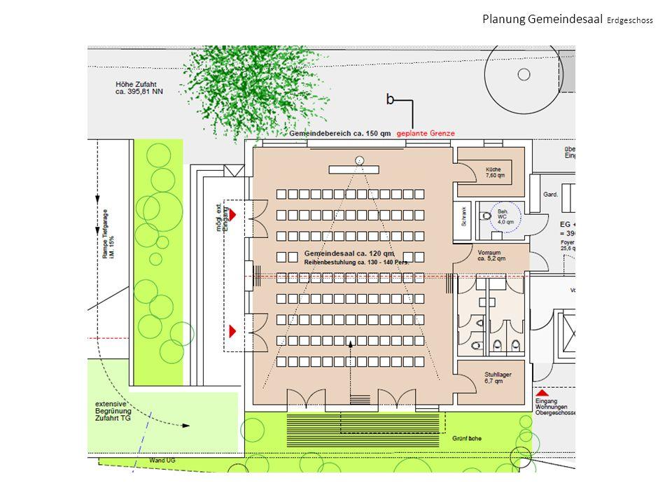 Planung Gemeindesaal Erdgeschoss