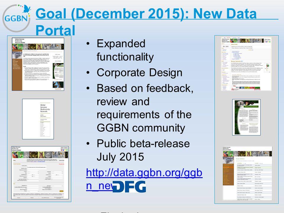 Goal (December 2015): New Data Portal