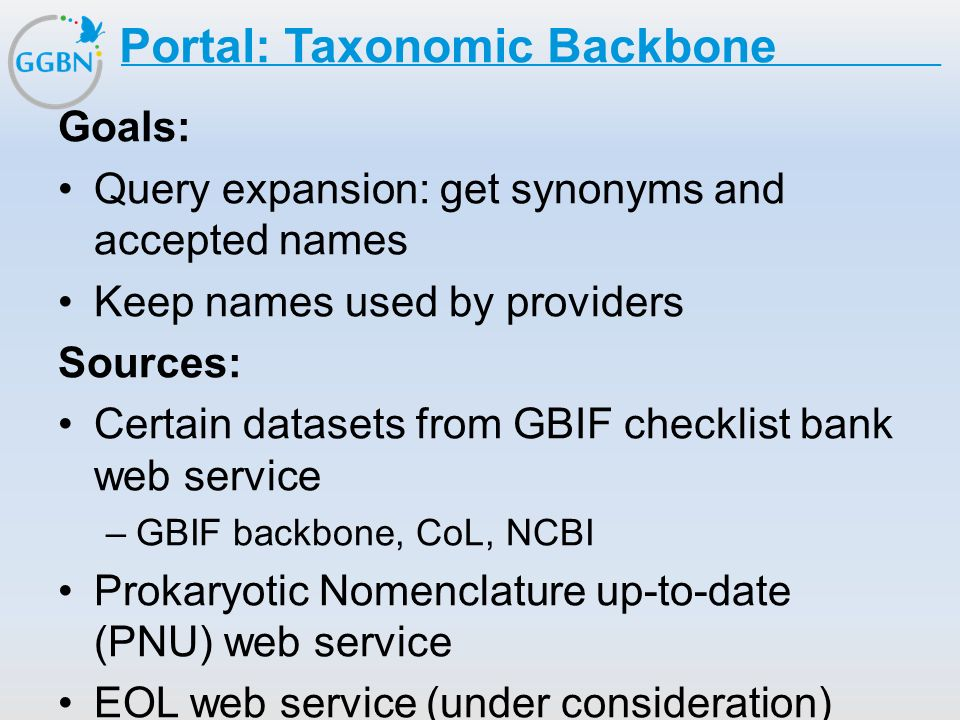 Portal: Taxonomic Backbone