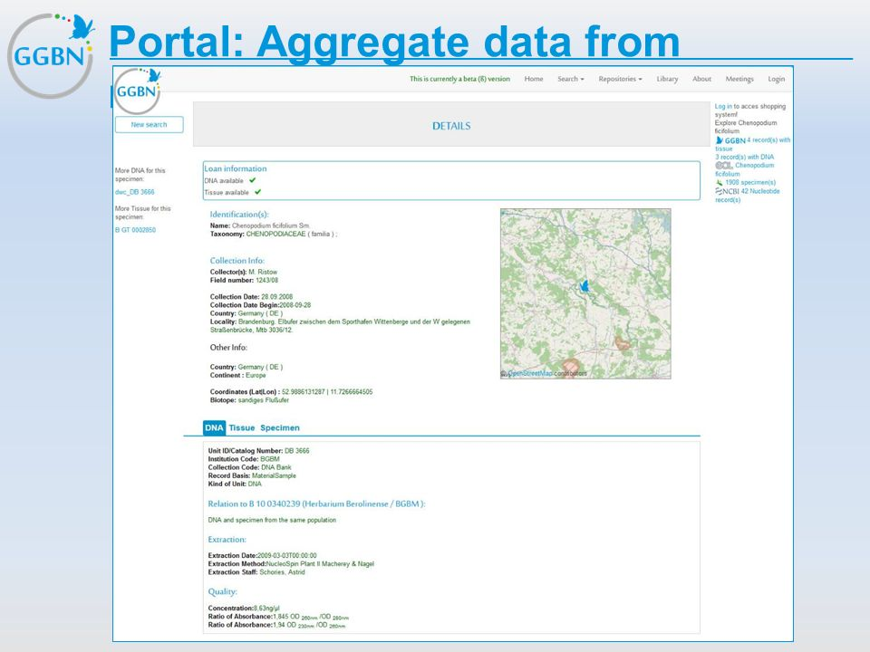 Portal: Aggregate data from multiple sources