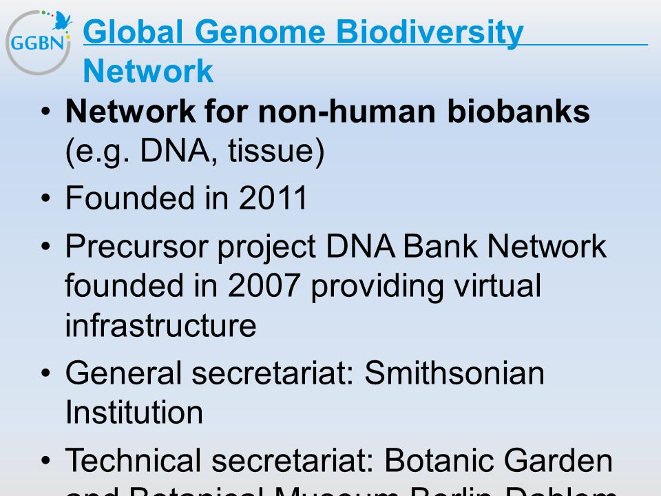 Global Genome Biodiversity Network