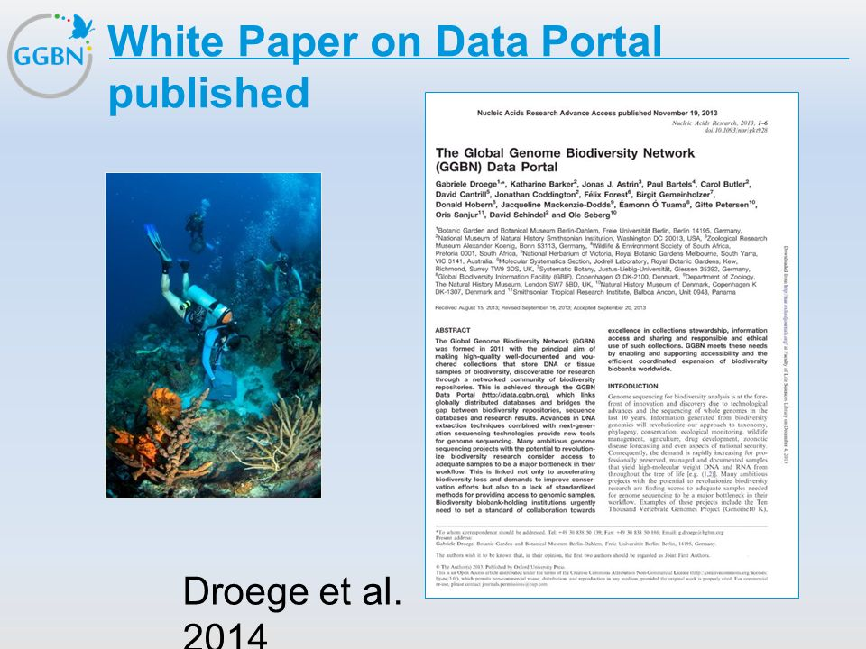 White Paper on Data Portal published